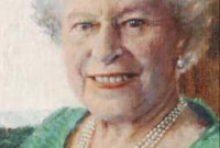 Rolf Harris portrait of the Queen
