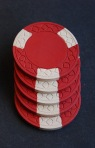 real clay poker chips red